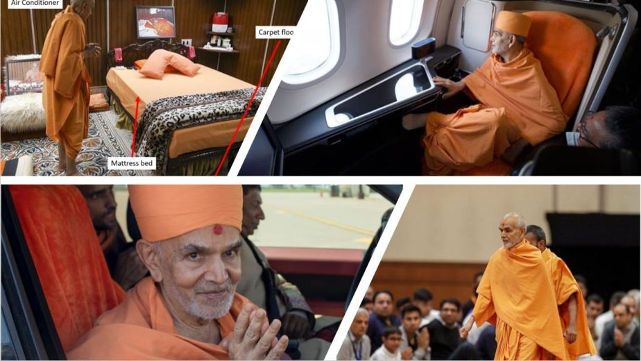Lavish Lifestyle of swaminarayan sadhus in picture.