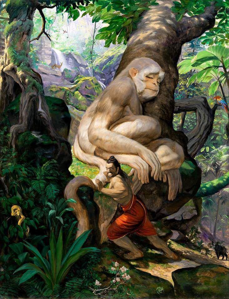 Mahabharat: Bhim and Hanuman