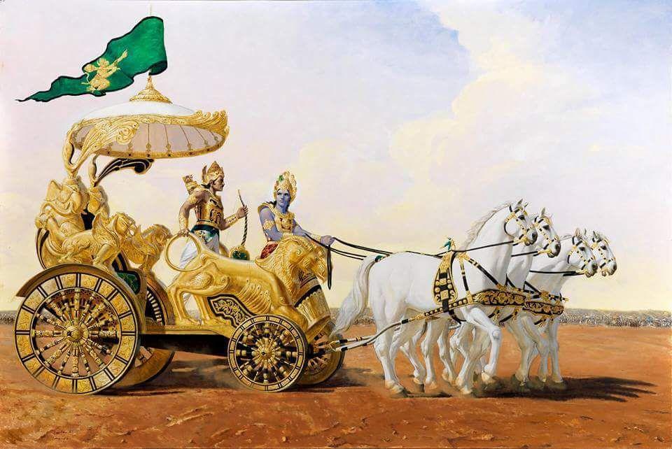 Krishna and Arjun | Krishna Wallpaper