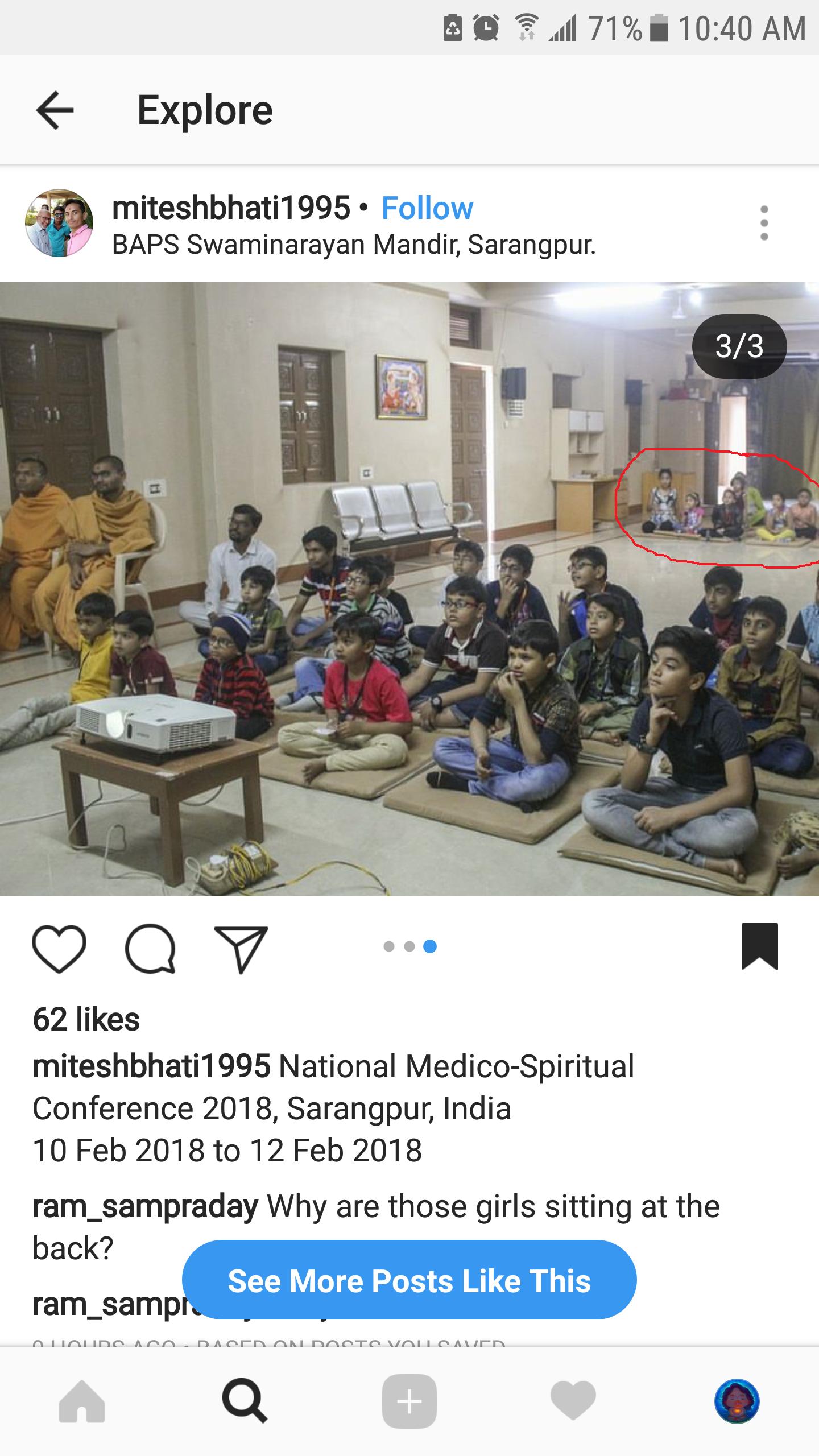 Disgusting Attitude Of Swaminarayan Baps Towards Young Girl Click