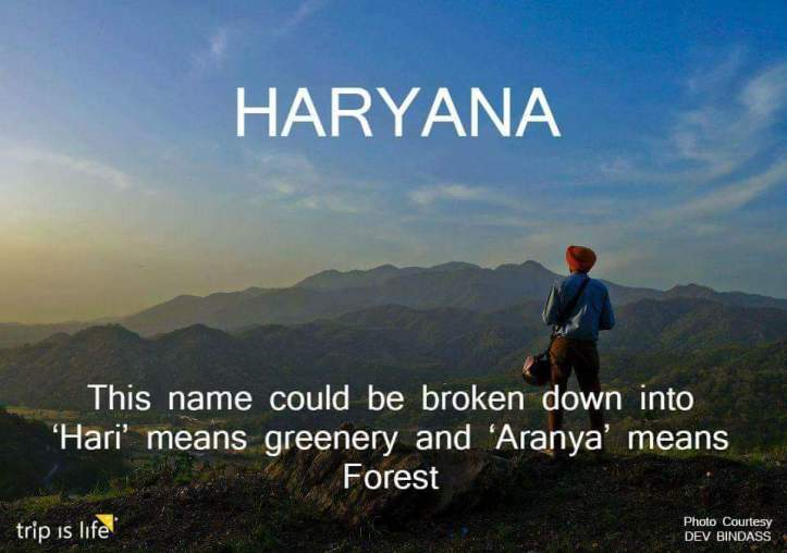 States of India: Haryana Meaning