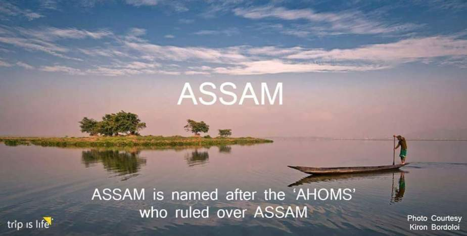 States of India: Assam Meaning