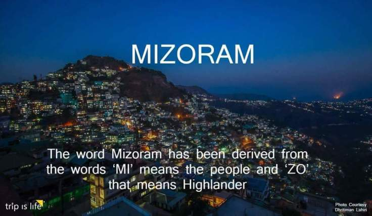 States of India: Mizoram meaning