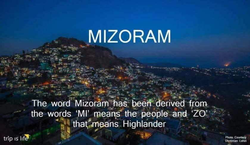 States of India: Mizoram meaning