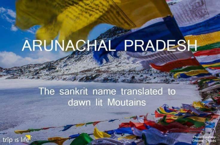 States of India: Arunachal Pradesh meaning